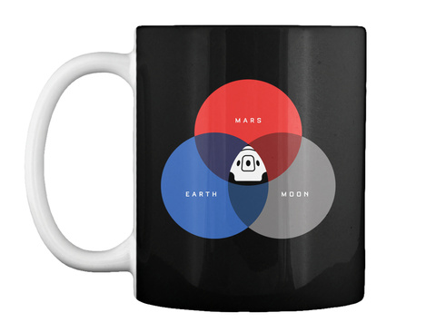The Rgb Space Mug [Usa] #Sfsf Black Mug Front
