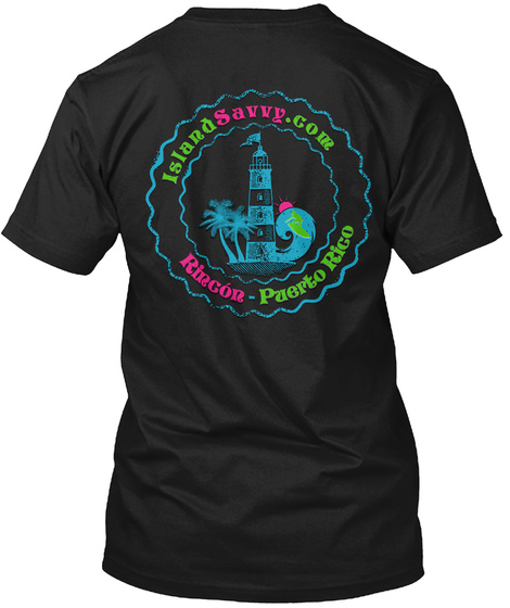 Islandsavvy.Com Rincon Puerto Rico Black T-Shirt Back