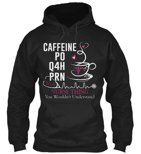 Nurse And Caffeine Black áo T-Shirt Front