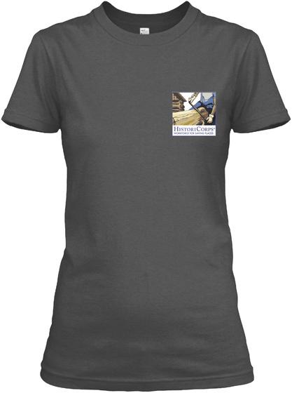 Histori Corps Apparel: Classics Charcoal T-Shirt Front