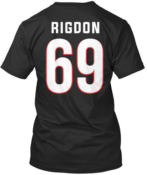 Rigdon 69 Black T-Shirt Back
