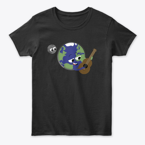 Earth Black T-Shirt Front