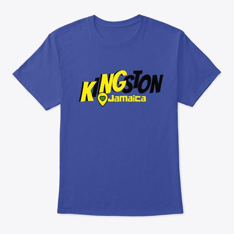Kingston, Jamaica Deep Royal T-Shirt Front