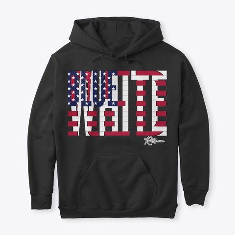 Red White And Blue American Pride Black T-Shirt Front