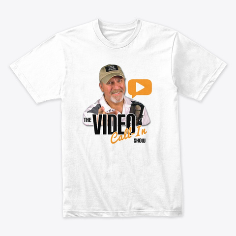 Video Call In Show Face Is The Place White T-Shirt Front