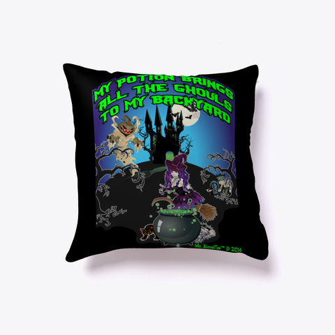 All The Ghouls Halloween Pillow Black T-Shirt Front