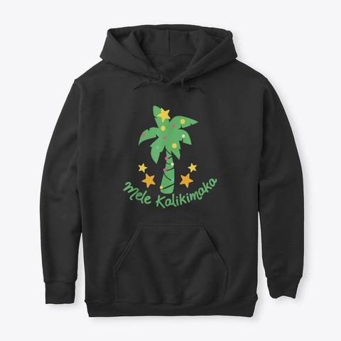 Mele Kalikimaka Laau Pama   Palm Tree Black T-Shirt Front