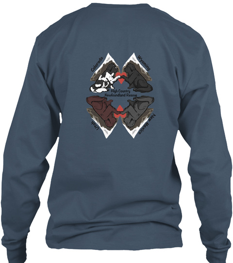 Hcnr 2018 Fall T Shirt Campaign Indigo Long Sleeve T-Shirt Back