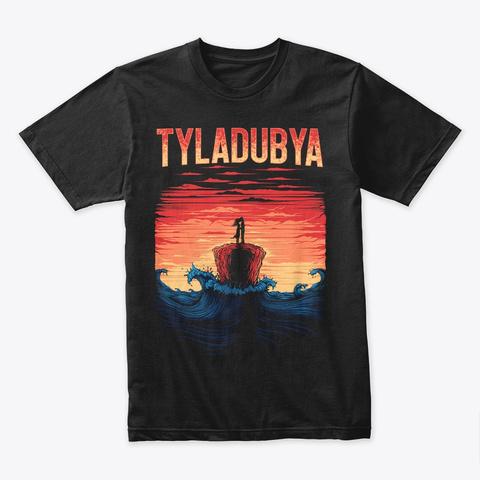 Tyla Dubya Waves Black T-Shirt Front