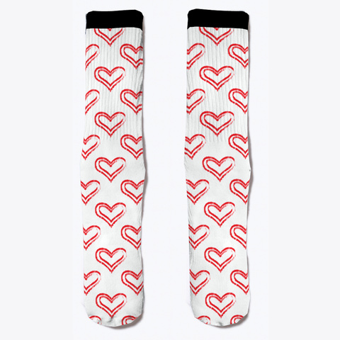 Love Heart  Socks  Standard T-Shirt Front