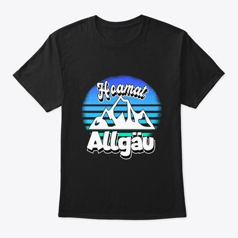 Allgäu Home Mountains Hiking Allgäuer Ba Black T-Shirt Front