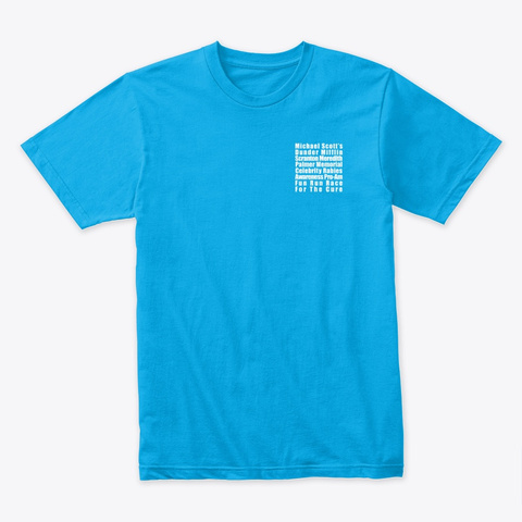 "The Office ""Fun Run"" T Shirt Turquoise Camiseta Front"