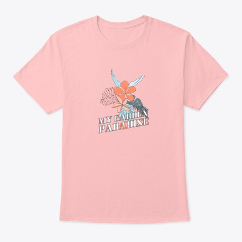 My Garden Paradise Pale Pink T-Shirt Front