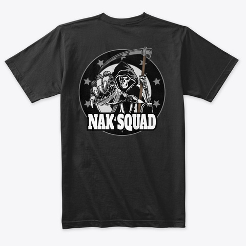 Nak Squad And Nak Elite   Tees Vintage Black T-Shirt Back