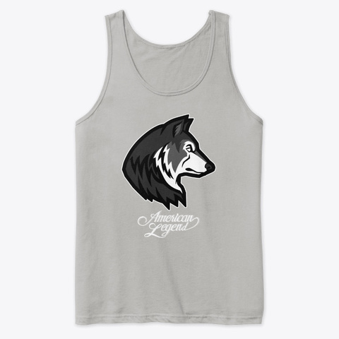 American Legend's  Dire Wolf Logo Tee Athletic Heather T-Shirt Front