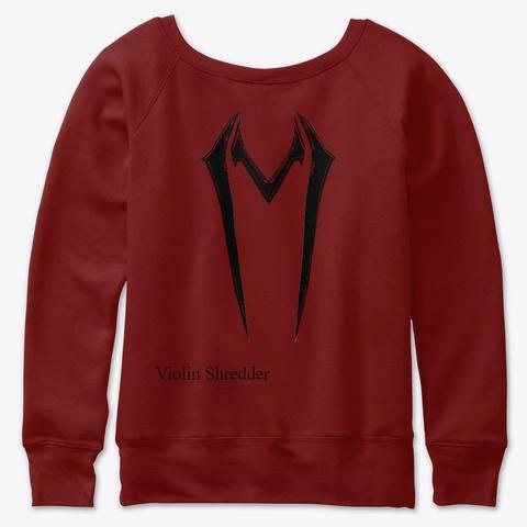 Violin Shredder Women's Dark Red Triblend T-Shirt Back