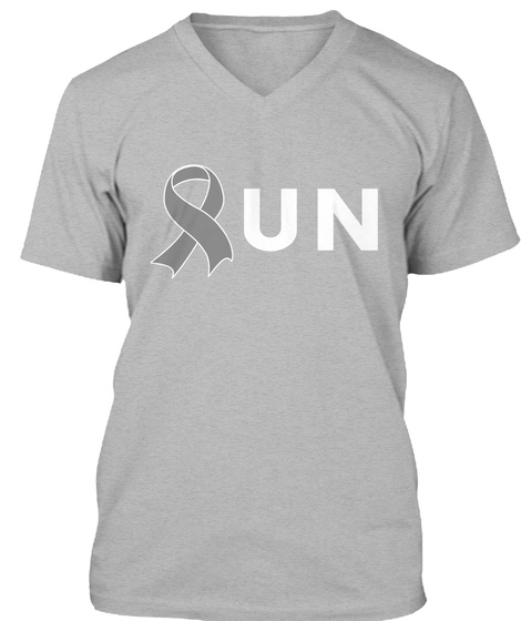 Run For Brain Cancer Awareness T Shirt Athletic Heather T-Shirt Front