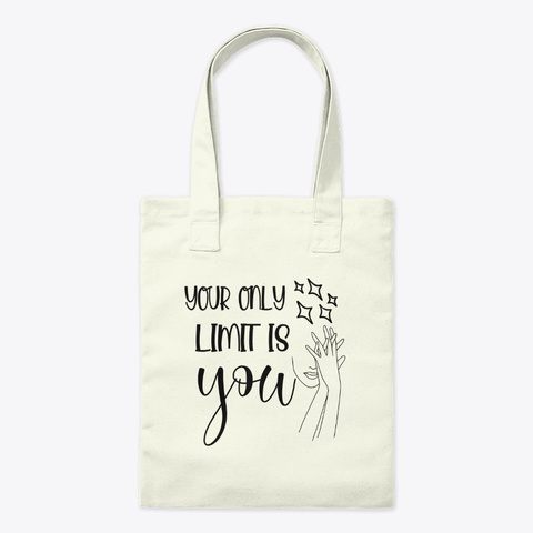 Your Only Limit Is You, Line Art Girl Natural T-Shirt Front