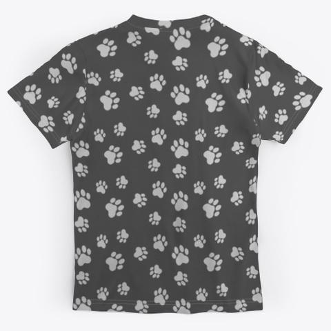 Pop Culture Pets Fanart By Mei Yu Charcoal T-Shirt Back