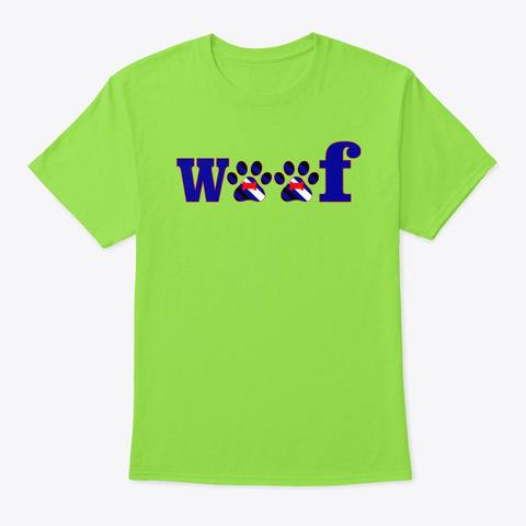 Woof Pup Lime T-Shirt Front
