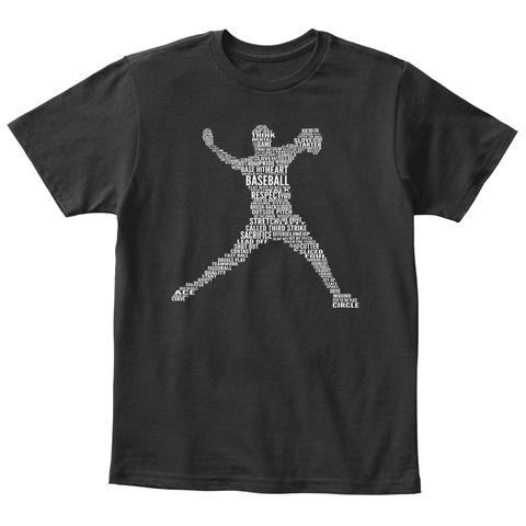 Think Baseball Respect Stretch Called Third Strike Sacrifice Circle  Black T-Shirt Front