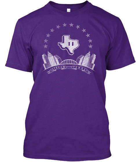 Stream Texas Purple T-Shirt Front