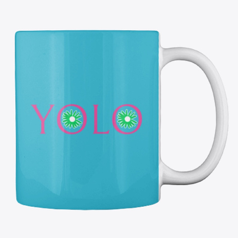 Yolo Colored Mugs Turquoise T-Shirt Back