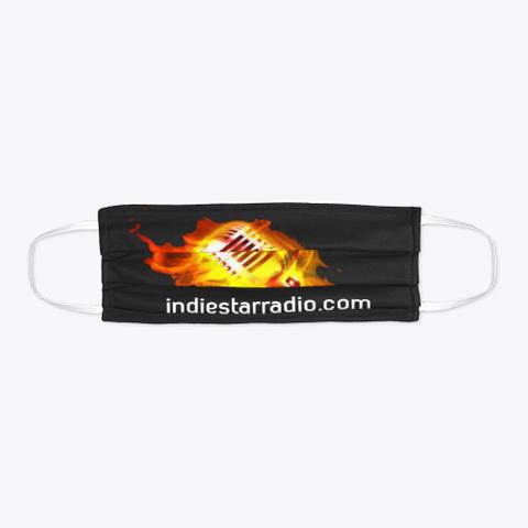 Official Isr Flaming Mic Face Mask Black T-Shirt Flat