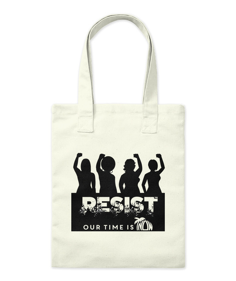 Flnow Resist Totes, Mugs And Stickers Natural Jute-Beutel Front