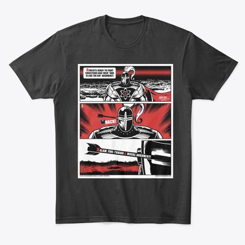 Unlucky Atheist Knight (Meme Edition) Black T-Shirt Front