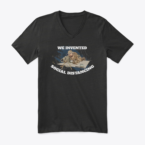 We Invented Social Distancing   Tees Black T-Shirt Front