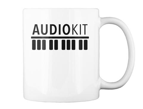 Audiokit White T-Shirt Back