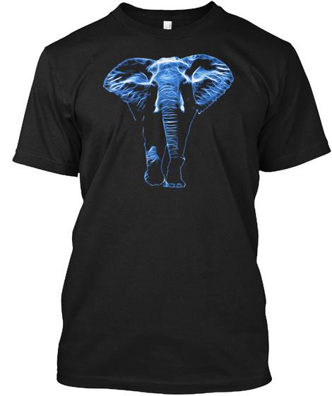 Cool Graphic Design Fractal Animal Art E Black T-Shirt Front