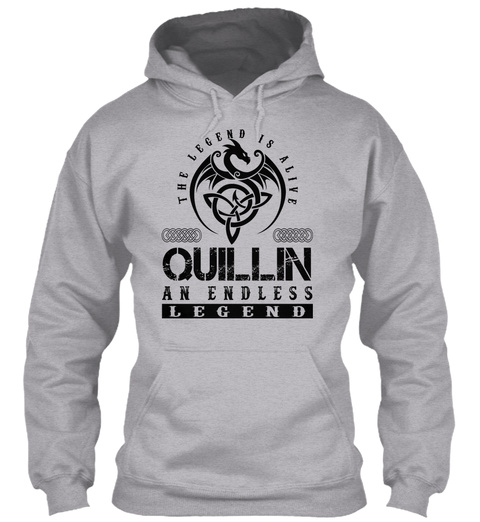 Quillin   Legends Alive Sport Grey T-Shirt Front