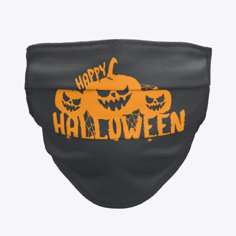 Happy Halloween  Pumpkin  Black T-Shirt Front