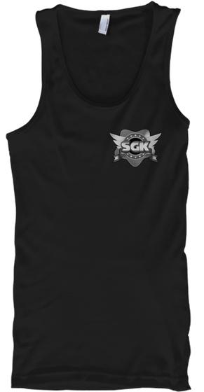 Sgk Grey Logo Tank Black T-Shirt Front