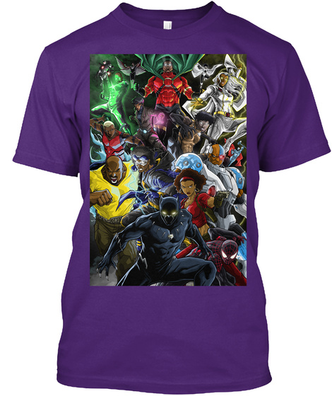 Black Superheroes Shirt  Limited Time Purple T-Shirt Front