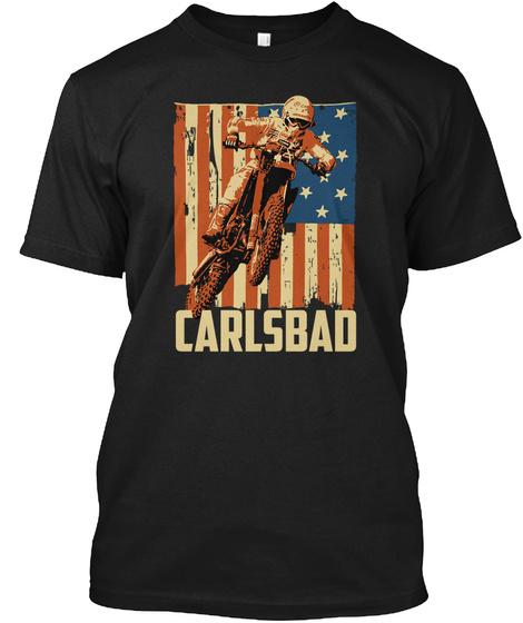 Carlsbad Black T-Shirt Front