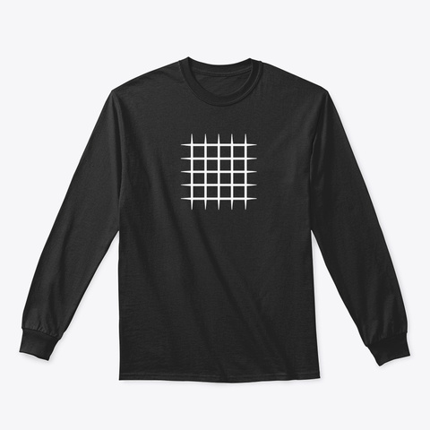 Long Sleeve Tee: Blocks Black Camiseta Front