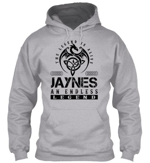 Jaynes   Legends Alive Sport Grey T-Shirt Front