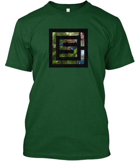 Shepherd Of Men Creations Logo Green Forest Green  T-Shirt Front