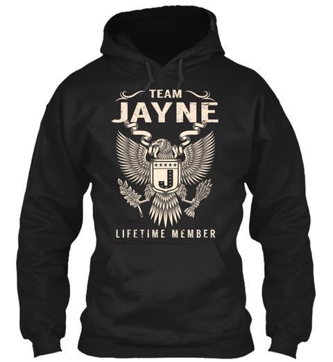 Team Jayne Lifetime Member Black T-Shirt Front