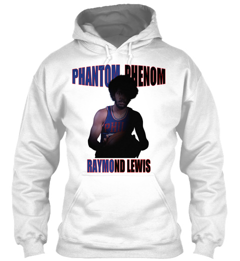 Phantom Phenom Colored Hoodie White T-Shirt Front