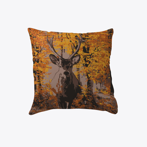 Fall Stag Pillow White T-Shirt Front