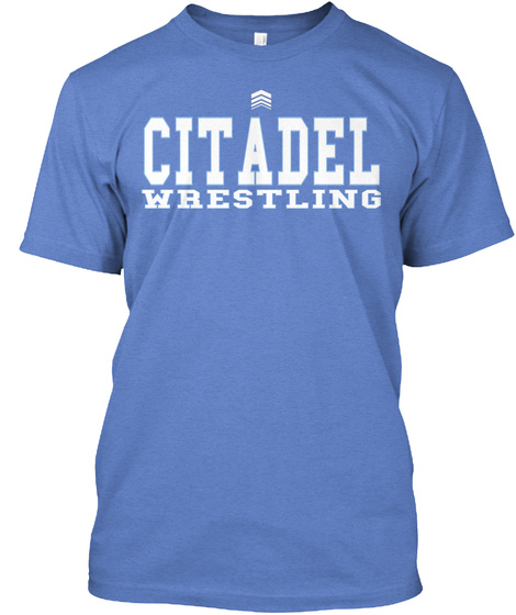 Citadel Wrestling Heathered Royal  Maglietta Front