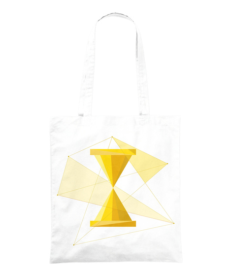 "Tote Bag ""Sablier"" White Tote Bag Front"