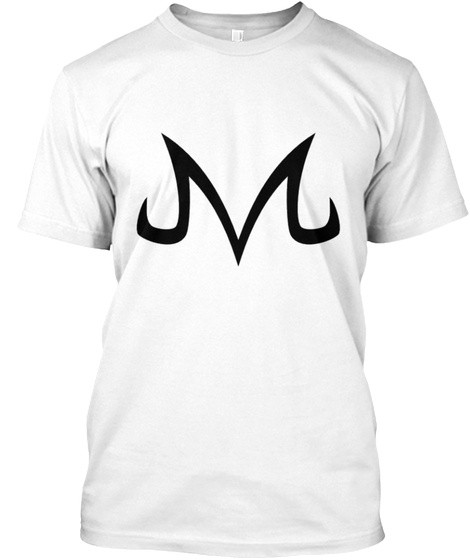 Majin Vegeta White T-Shirt Front