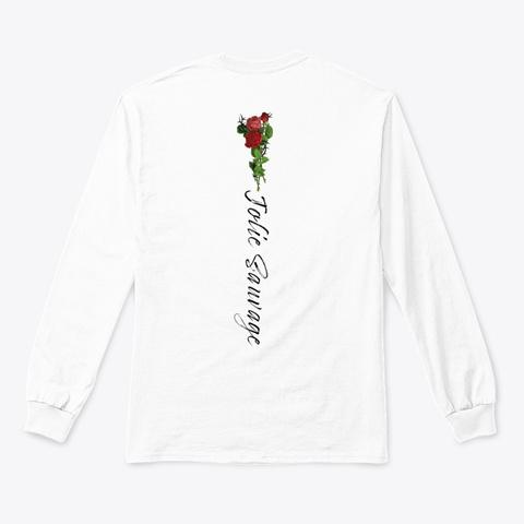 Jolie Sauvage Signature Line White T-Shirt Back