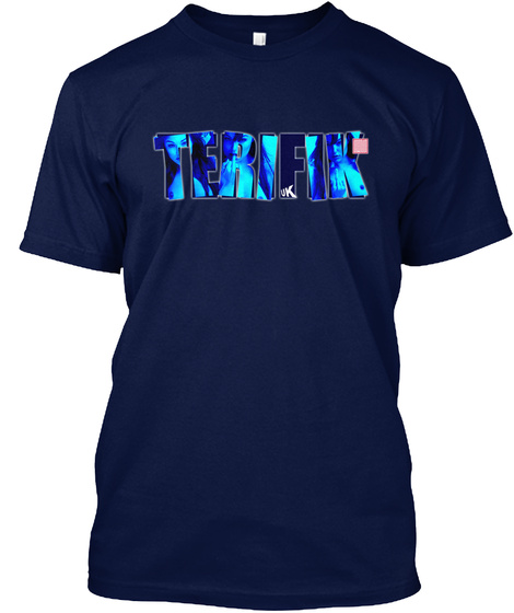 Terifik Navy T-Shirt Front