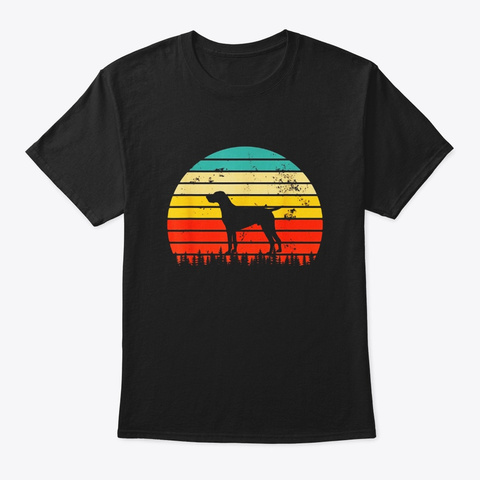 Vintage German Wirehaired Pointer Dog Black T-Shirt Front